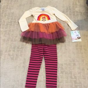Girl's matching Turkey Set, Sizes 2T, 3T & 4T